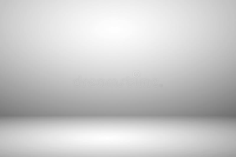 Studio blanc vide avec fond abstrait clair et ombragé photographie stock libre de droits