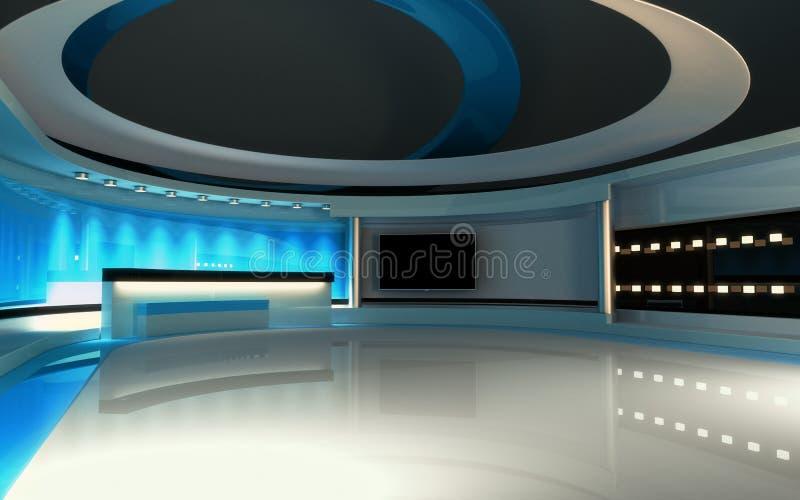 Studio bleu photo libre de droits