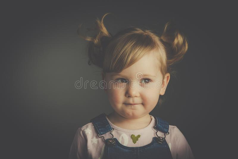 Studio child portrait stock photo