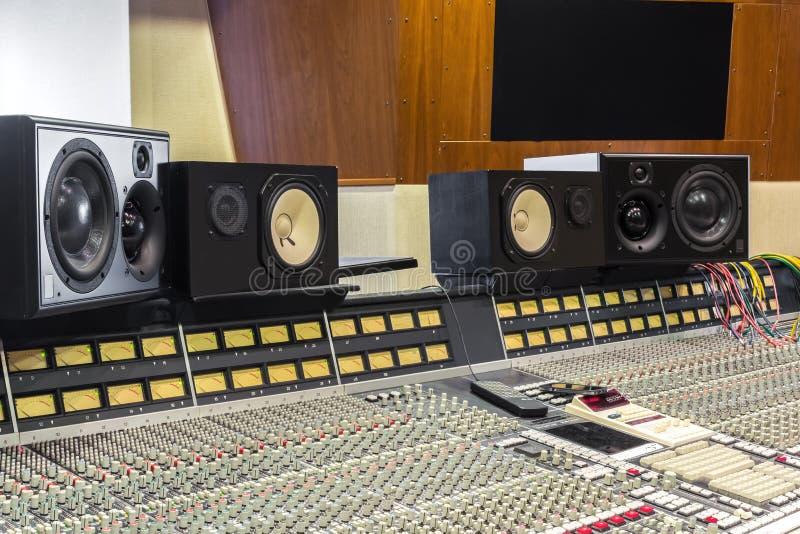 Studio d'enregistrement photographie stock