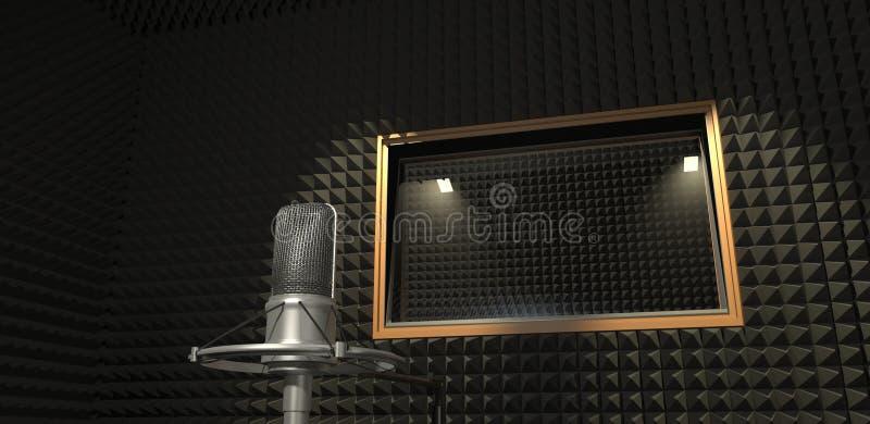 Studio d'enregistrement sonore illustration 3D illustration stock