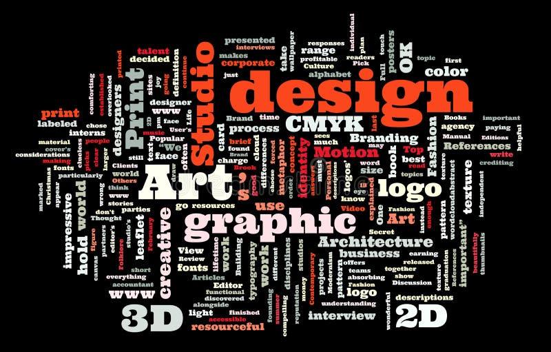 Studio de conception graphique illustration de vecteur