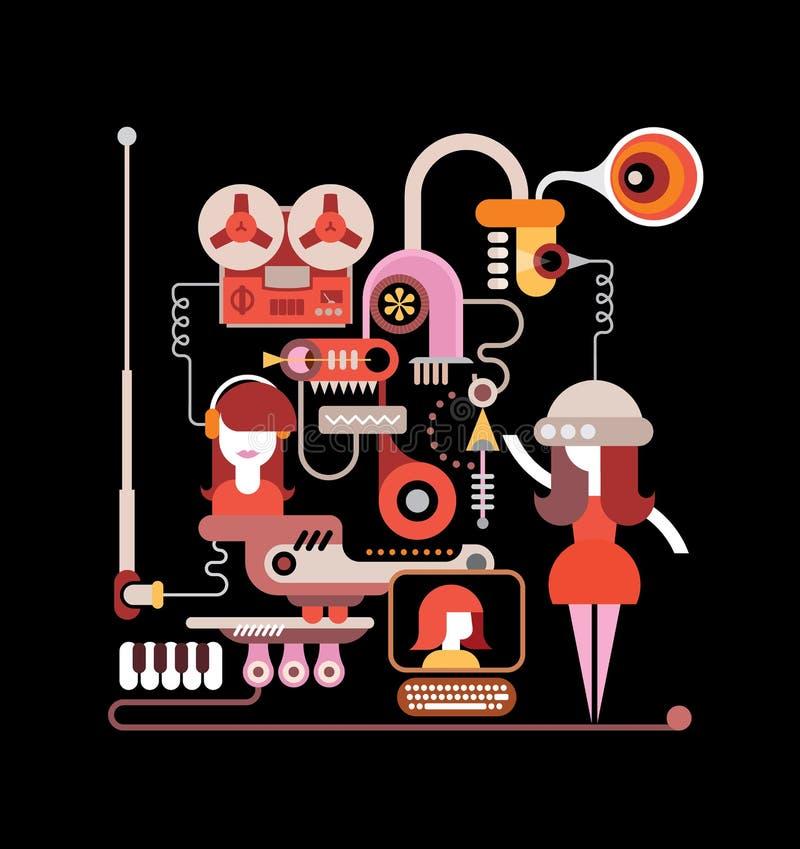 Studio de musique illustration stock
