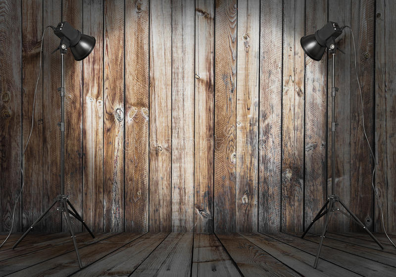 Studio de photo dans la vieille chambre images stock