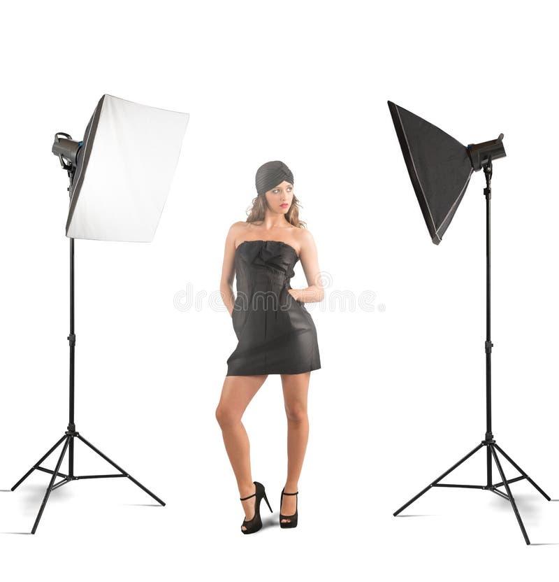 Studio de photo de fille photo libre de droits