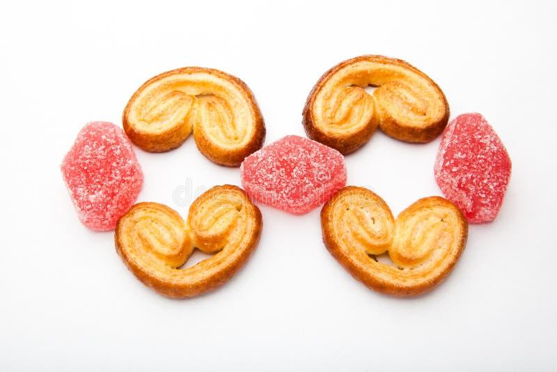 Studio de Sugar Caramel Cookies d'amoureux image libre de droits
