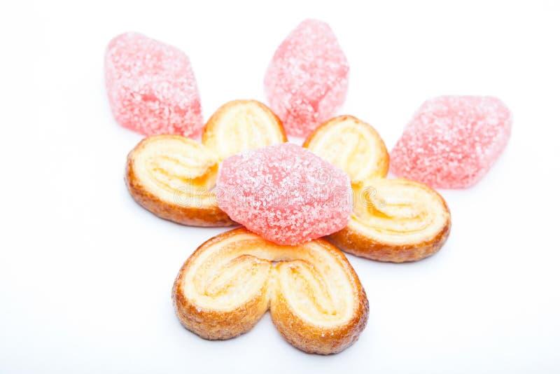 Studio de Sugar Caramel Cookies d'amoureux photo stock