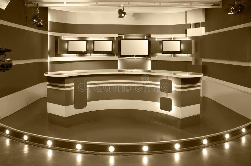 Studio de télévision de sépia illustration libre de droits