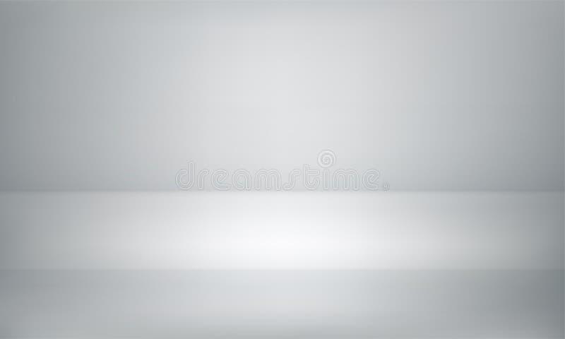 Studio de witte achtergrond of toonzaal van de productlijst vector illustratie