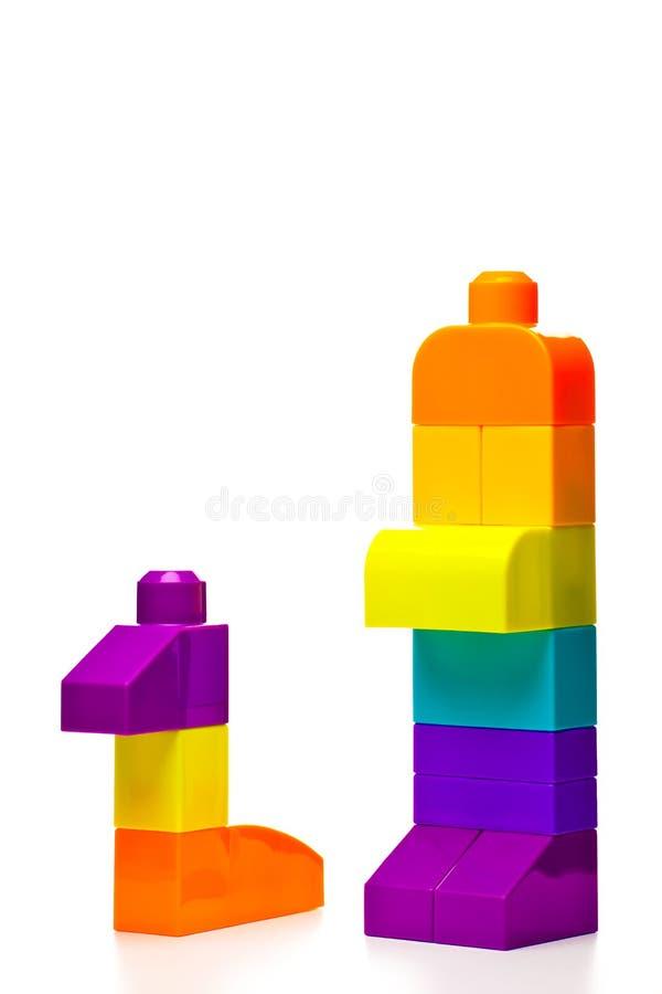 Studio del giocattolo di puzzle del blocchetto del bambino immagini stock