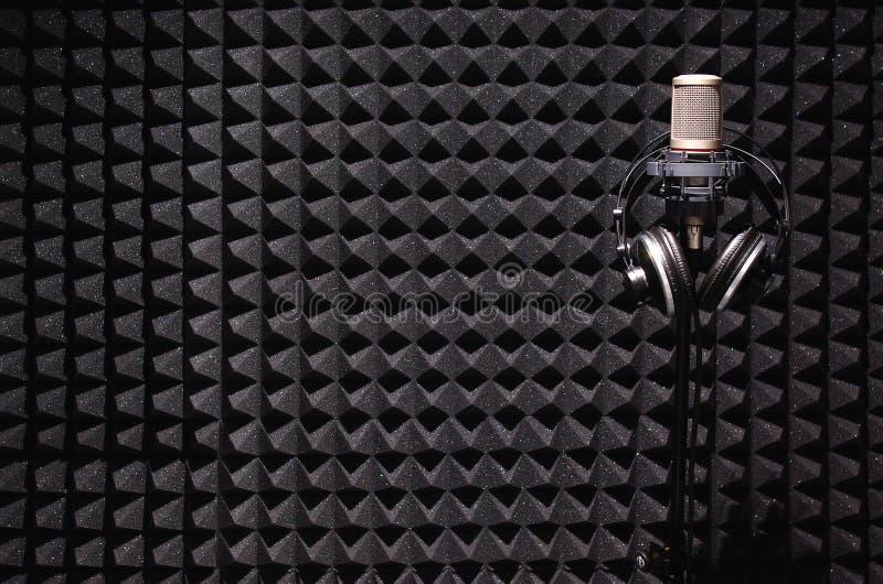 Studio della registrazione del suono fotografie stock