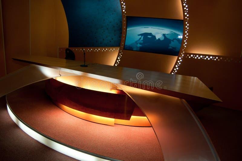 Studio della TV fotografia stock libera da diritti