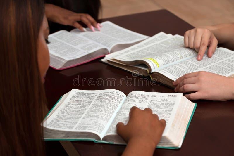 Studio devozionale della bibbia delle donne fotografia stock libera da diritti