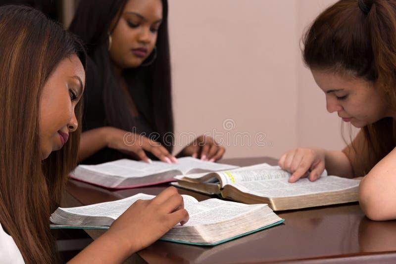 Studio devozionale della bibbia delle donne fotografia stock
