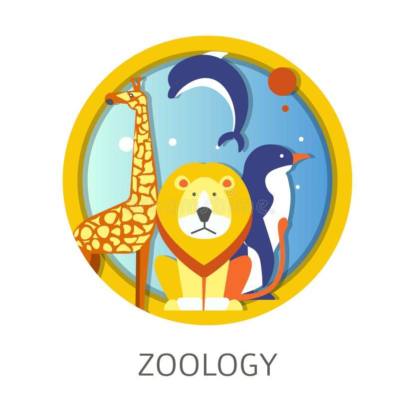 Studio di disciplina della scuola di zoologia circa gli animali e la fauna royalty illustrazione gratis