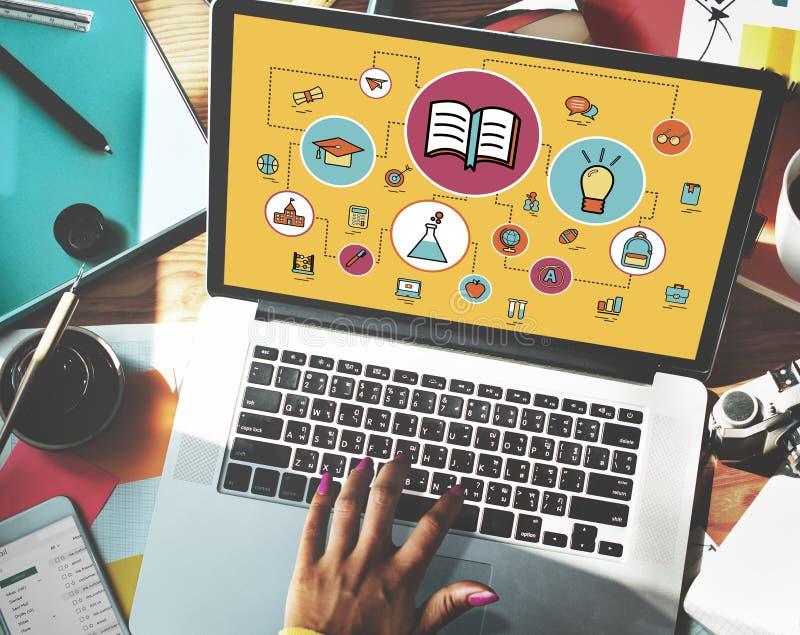 Studio di istruzione che impara concetto della classe di conoscenza immagine stock libera da diritti