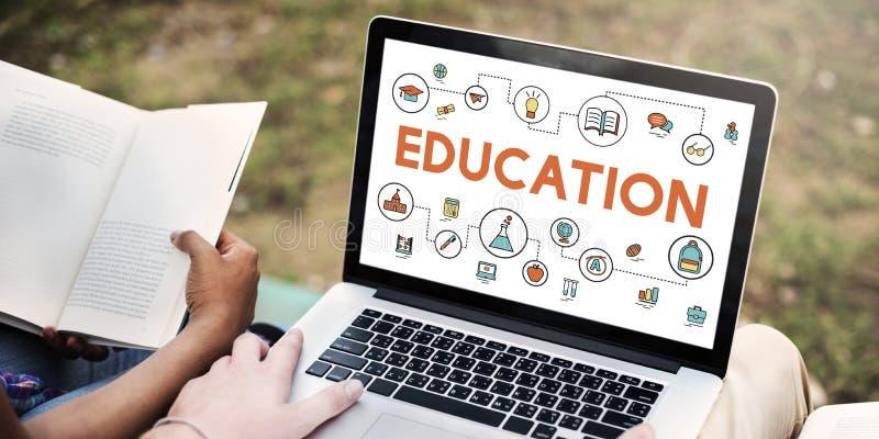 Studio di istruzione che impara concetto di informazioni di conoscenza immagine stock libera da diritti
