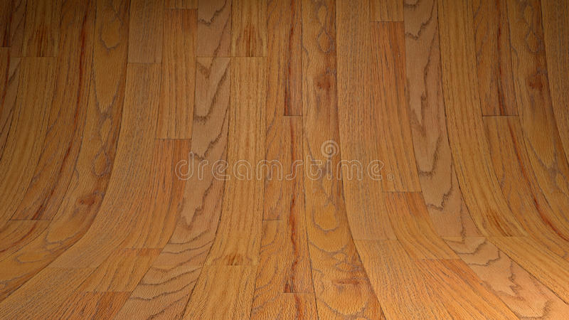 Studio di legno vuoto fotografie stock libere da diritti