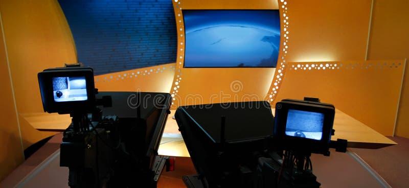 Studio di notizie della TV immagine stock libera da diritti