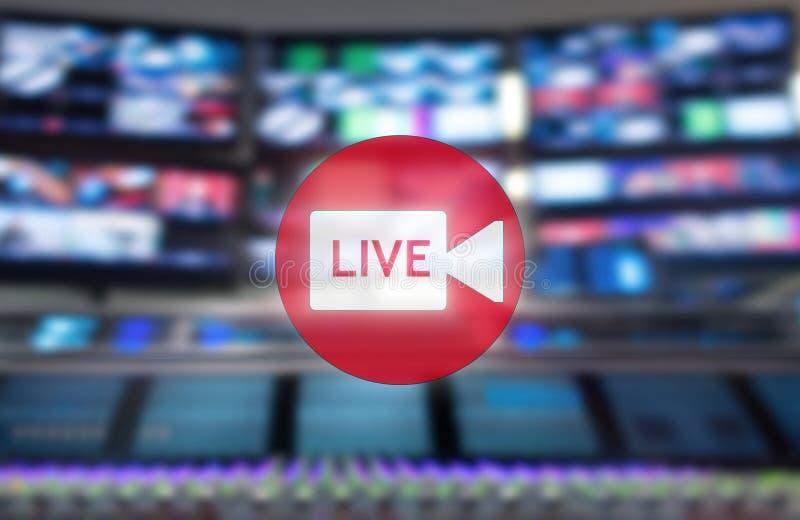 Studio di radiodiffusione live Console professionale del ` s dell'ingegnere sano Telecomando per l'ingegnere sano Consoli di misc immagine stock
