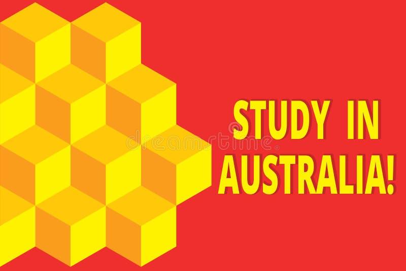 Studio di rappresentazione del segno del testo in Australia Foto concettuale che entra in ordine del paese straniero completare l illustrazione di stock