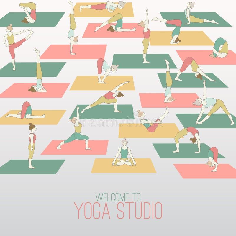 Studio di yoga illustrazione vettoriale
