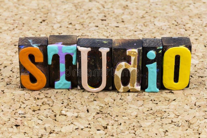 Studio display creative professional art design abstract illustration. Studio display creative professional art graphic design abstract illustration letterpress stock image