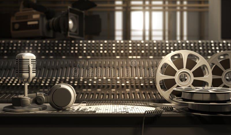 Studio equipment royalty free illustration