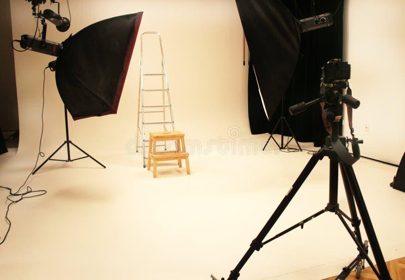Studio et équipement professionnels de photo image libre de droits