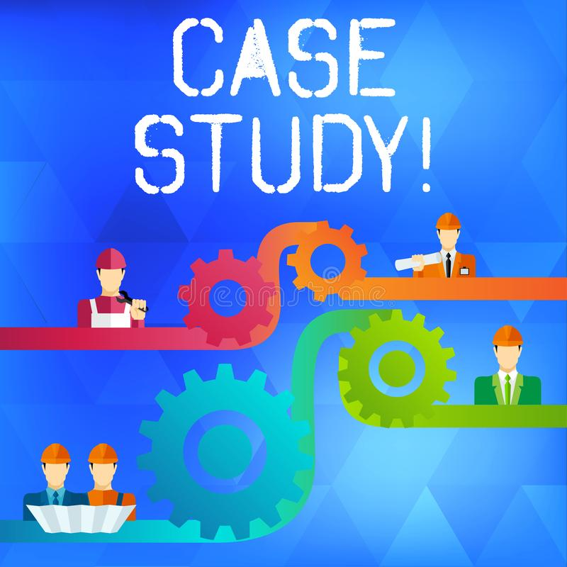 Studio finalizzato di rappresentazione del segno del testo Annotazione concettuale della foto di ricerca su sviluppo dell'ingrana illustrazione di stock