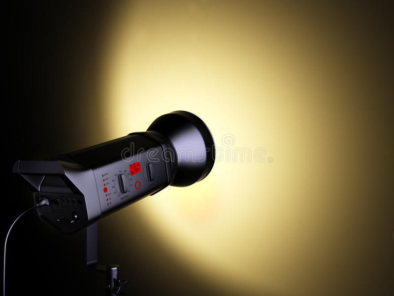 Download A studio flash. stock illustration. Image of image, electrical - 22157131
