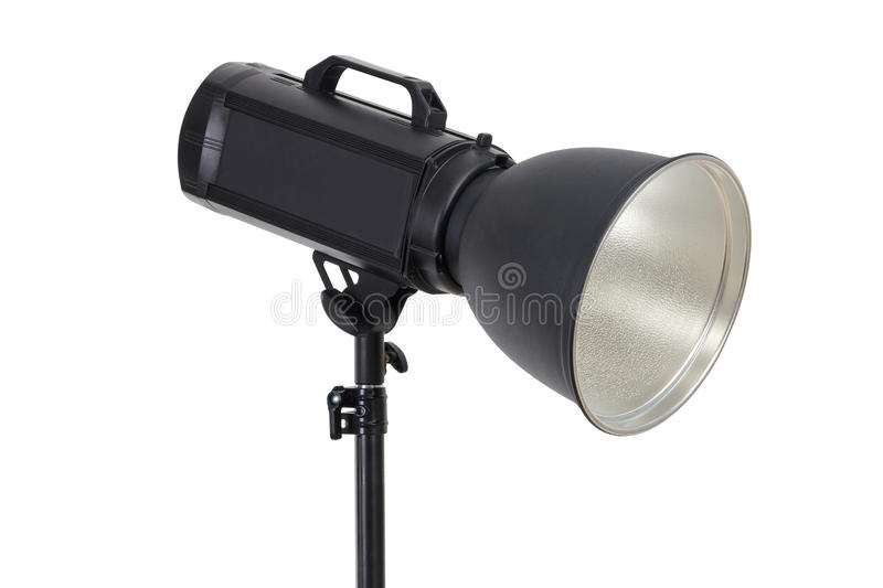 Studio flash lighting equipment stock images