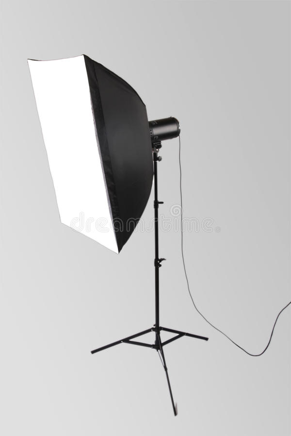 Free Studio Flash With Softbox Royalty Free Stock Photo - 12456695