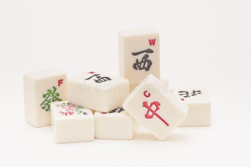 Studio geschossen von den Mahjong Stücken stockbild