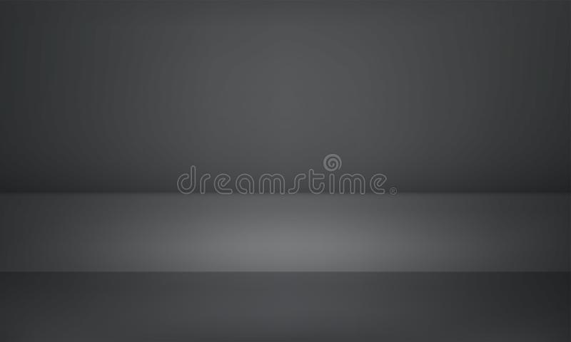 Studio gray black 3D product showroom background vector illustration
