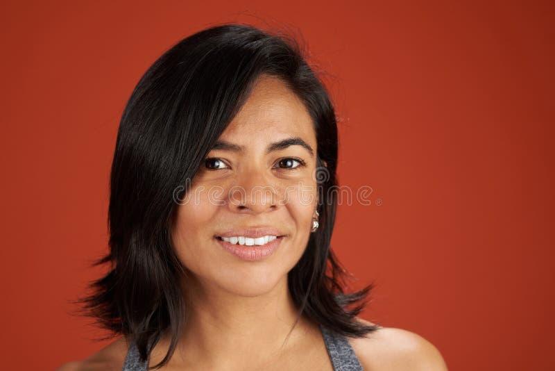Studio headshot of latina woman royalty free stock images