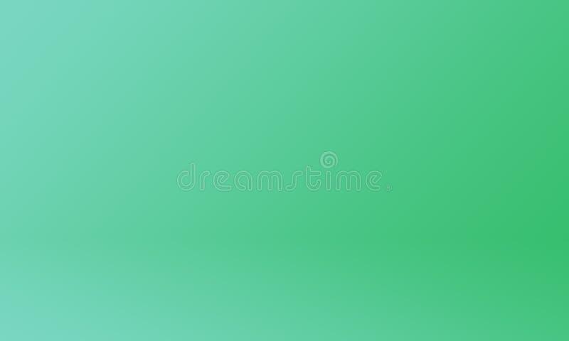 Studio-Hintergrund-Konzept - dunkelgrüner Steigungsstudio-Raumhintergrund für Produkt stock abbildung