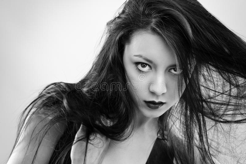 woman in latex royalty free stock images