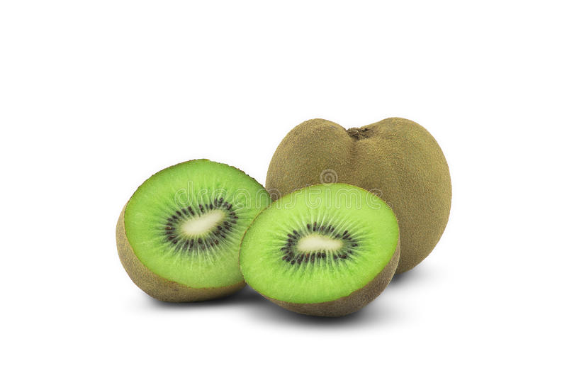 Studio isolerad Kiwifruit 2 arkivbild