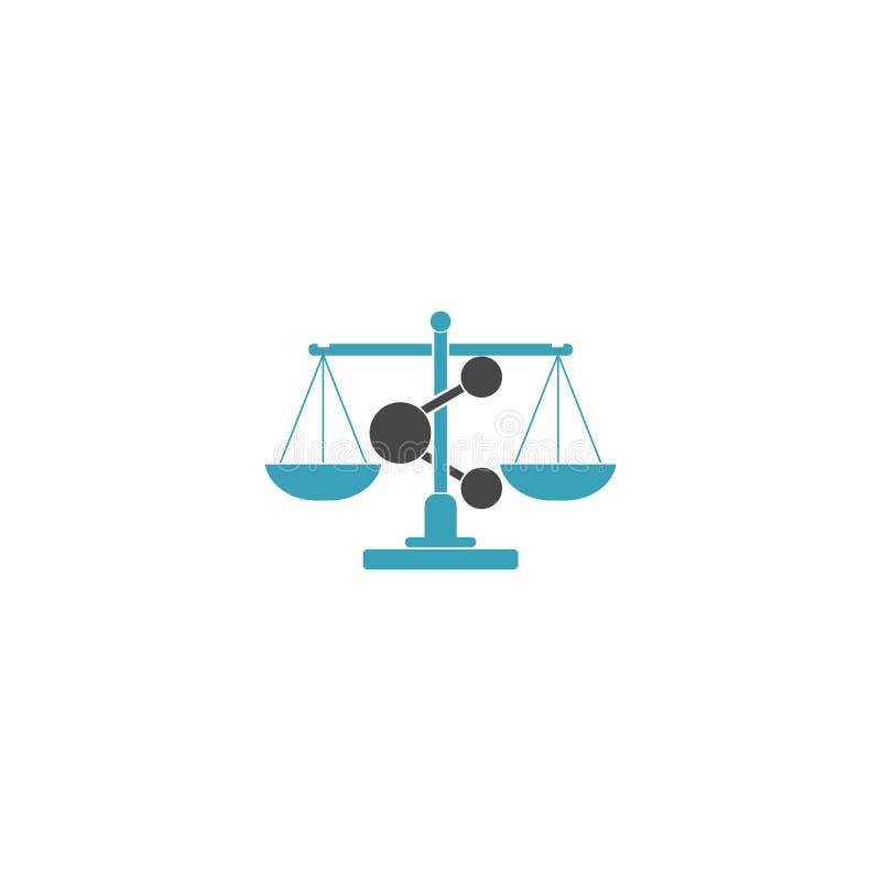 Studio legale Logo Icon Design della parte royalty illustrazione gratis