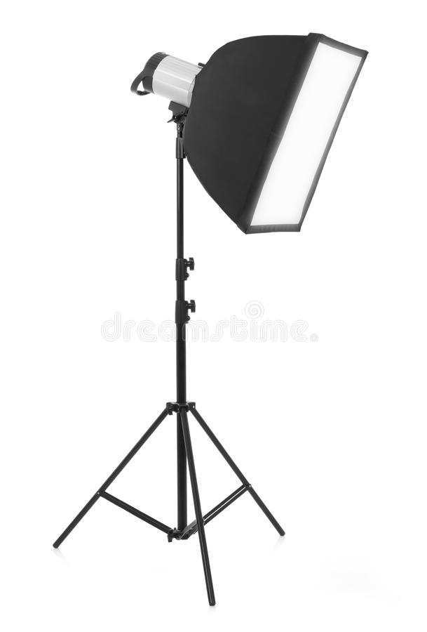 Studio light on white stock image
