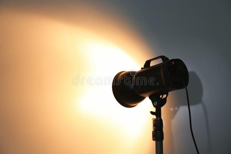 Studio lighting against white background stock photo