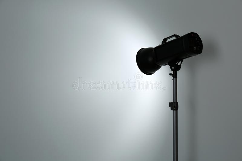Studio lighting against white background. royalty free stock image