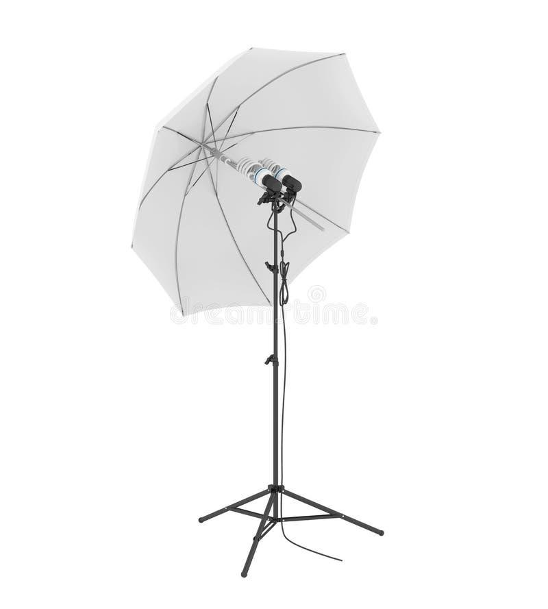 Studio Lighting med Parbrella isolerat vektor illustrationer