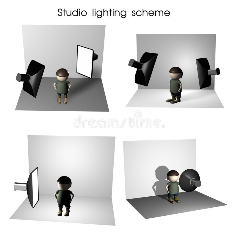 lighting scheme. Download Studio Lighting Scheme Stock Illustration. Illustration Of Reflector - 22987947 1