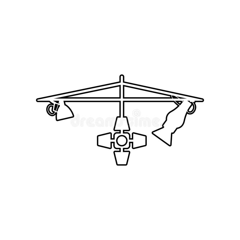 Studio Lights icon. Element of Equipment photography for mobile concept and web apps icon. Outline, thin line icon for website royalty free illustration