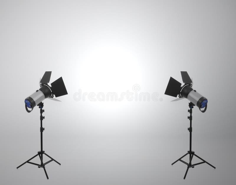 Photo studio on white royalty free stock image