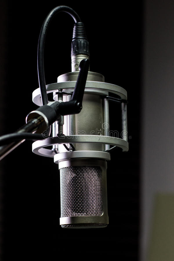 Studio Mic close-up stock images