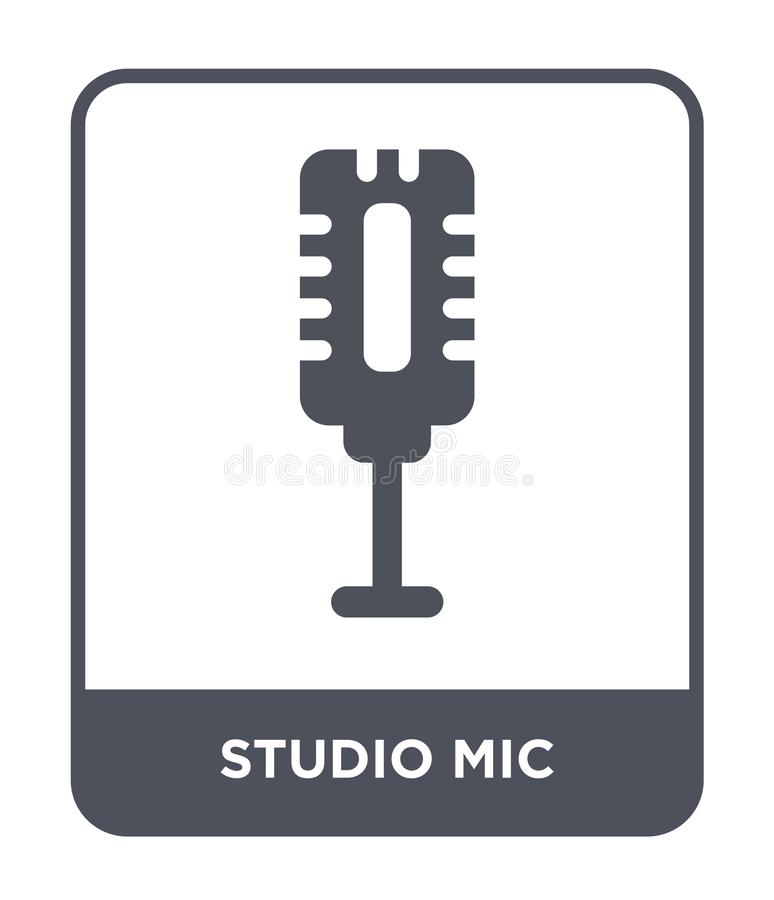 studio mic icon in trendy design style. studio mic icon isolated on white background. studio mic vector icon simple and modern royalty free illustration