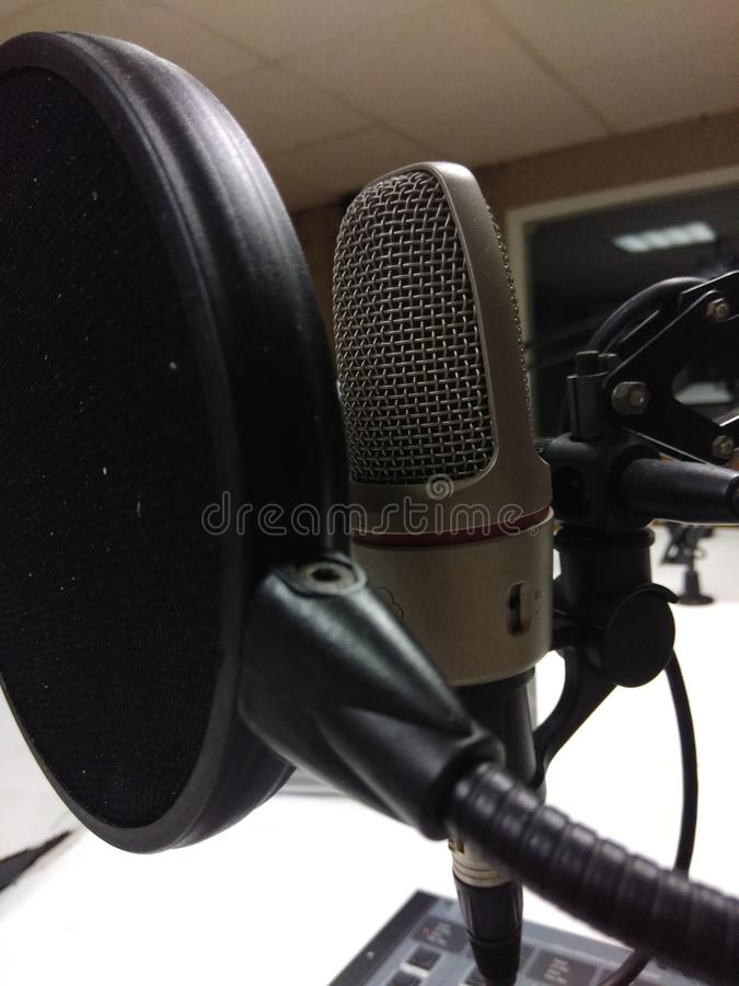 Studio mic - uitzending royalty-vrije stock foto's